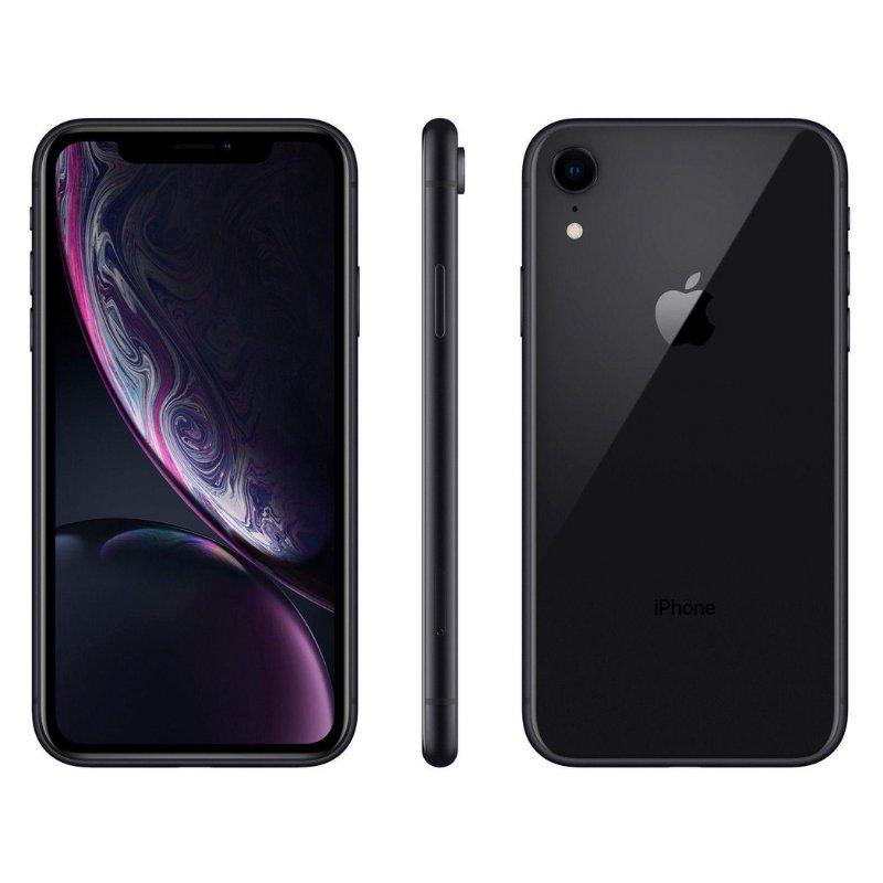 iPhone XR Apple 64GB 4G Preto tela 6,1 Câmera 12MP iOS