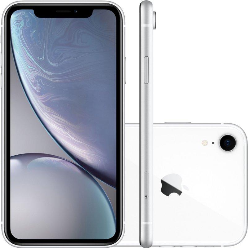 IPhone XR Apple Branco 64GB Tela Liquid Retina 6.1 Câmera Traseira de 12MP MRY52BZ/A