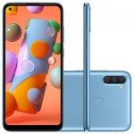 Smartphone Samsung Galaxy A11 6,4 Dual Chip 64GB 3GB RAM Azul Octa Core Câmera Tripla 13MP 8MP