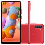 Samsung Galaxy A11 6,4 Dual Chip 64GB 3GB RAM Vermelho Octa Core Câmera Tripla 13MP Selfie 8MP