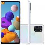 Smartphone Samsung Galaxy A21s 6,5 Dual Chip 64GB 4GB RAM Branco Octa Core Câmera Quádrupla 48MP