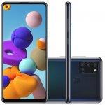 Samsung Galaxy A21s 6,5 Dual Chip 64GB 4GB RAM Preto Octa Core Câmera Quádrupla 48MP Selfie 13MP