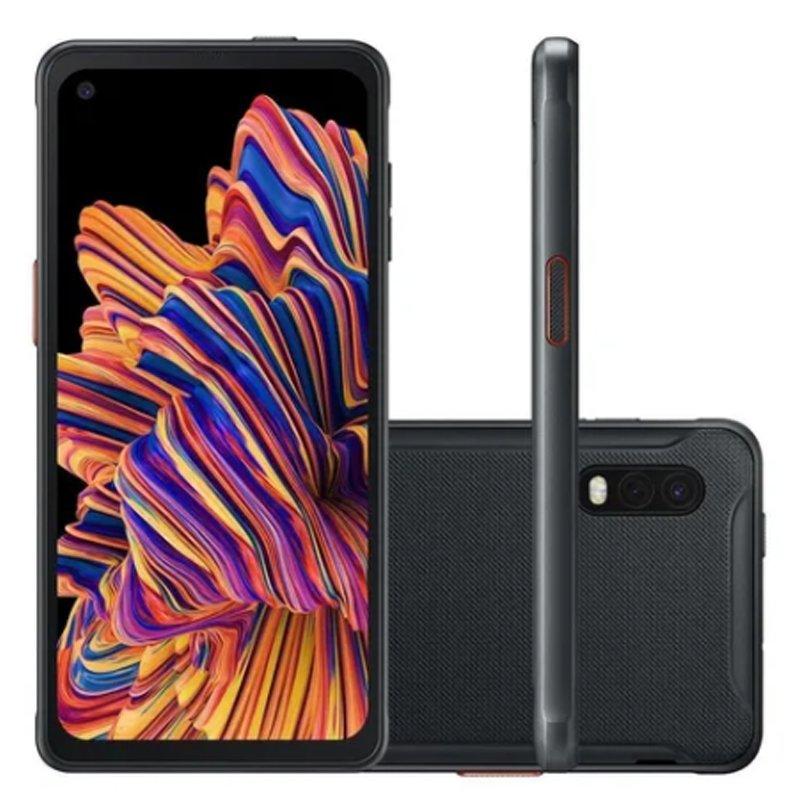 Smartphone Samsung Galaxy Xcover Pro 64GB 4GB Tela 6.3 Câmera 25MP 8MP Preto