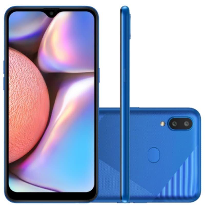 Smartphone Galaxy A10s NEW Câmera Dupla Traseira 13MP Tela de 6,2 Octa Core Azul Absurdo