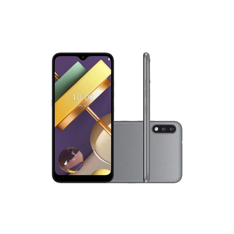Smartphone LG K22 Plus Titânio 64GB Tela de 6.2 Câmera Traseira Dupla Inteligência Artificial