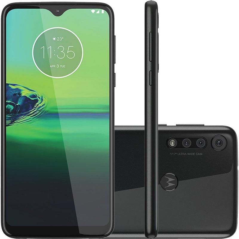 Smartphone Moto G8 Play 32GB 2GB RAM Tela de 6.2 Câmera Traseira Tripla 13MP 8MP 2MP Preto