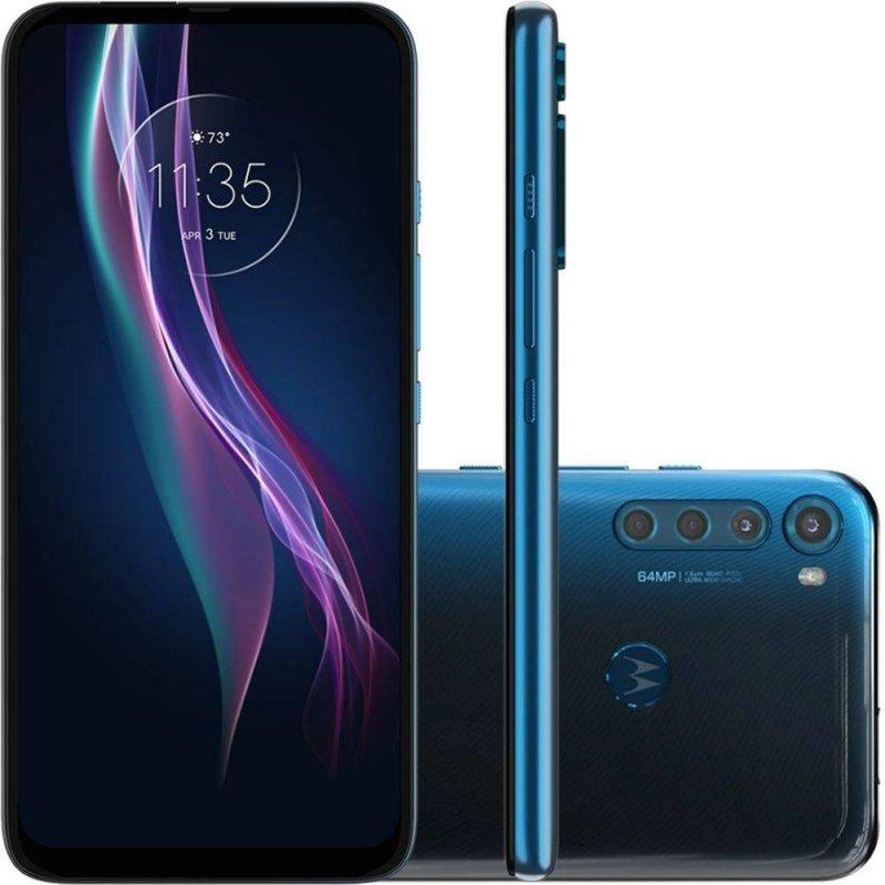 Smartphone Motorola 6,5 XT2067-2 Moto One Fusion Plus Dual chip 4GB Ram 128GB Câmera 64MP Azul