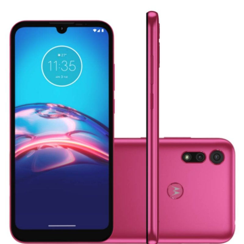 Smartphone Motorola E6S 6,1 XT2053-2 2GB Ram 32GB Memória Octa-Core Câmera 13MP Rosa