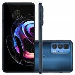 Smartphone motorola edge 20 pro Azul 256 GB 6.7 12 GB RAM Câm. Tripla 108 MP Selfie 32 MP