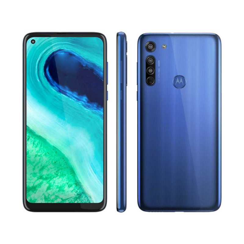 Smartphone Motorola G8 64GB RAM 4GB Câmera Traseira Foco a Laser 16 MP 8 MP 2 MP Azul Capri