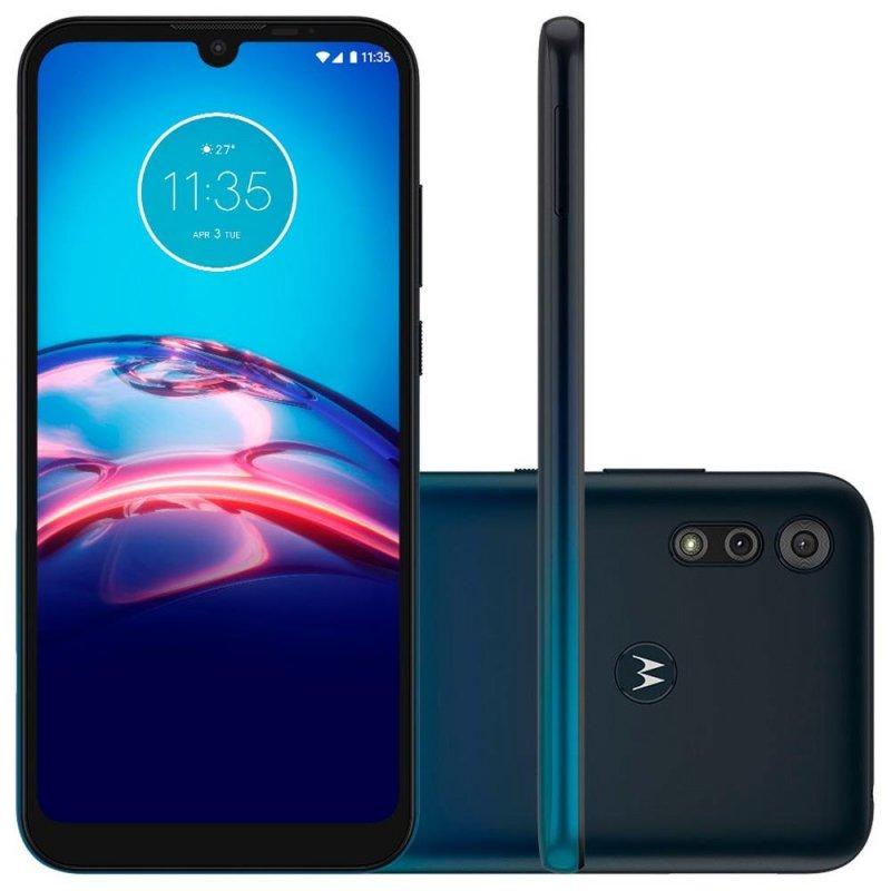 REEMBALADO Smartphone Motorola Moto E6S 32GB Dual Chip Tela 6.1 4G 13MP 2MP Azul Navy