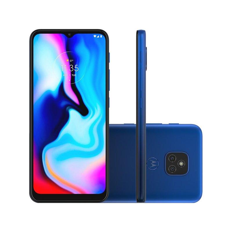 Smartphone Motorola Moto E7 Plus 6,5 XT2081-1 Dual Chip 4GB RAM 64GB Memória 48MP Azul Navy