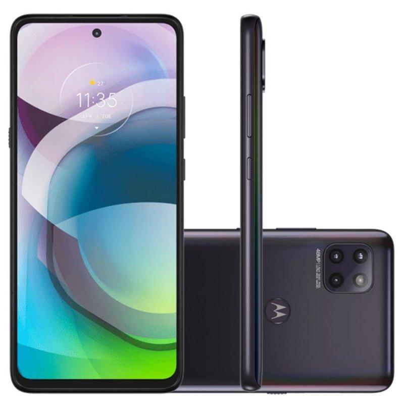 Smartphone Motorola Moto G 5G Preto 128GB 6GB Tela 6,7 Full HD Octa-Core Câm. Tripla 48MP 16MP