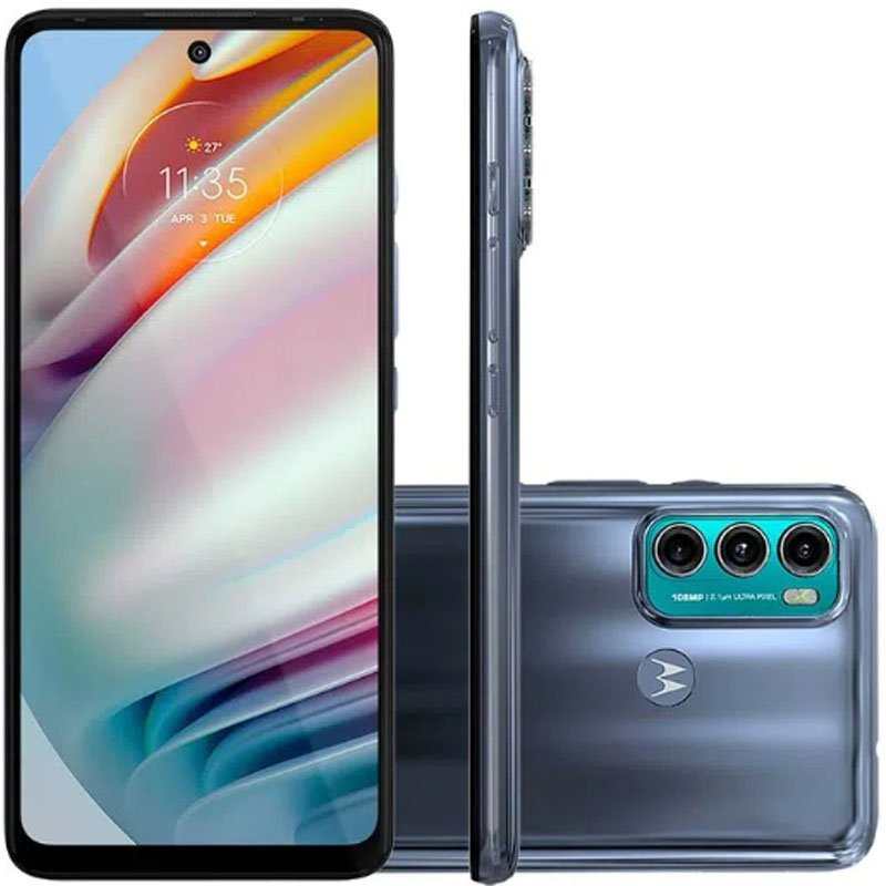 Smartphone Motorola Moto G60 XT2135-1 Dual Chip 6 GB RAM Memória 128 GB Azul