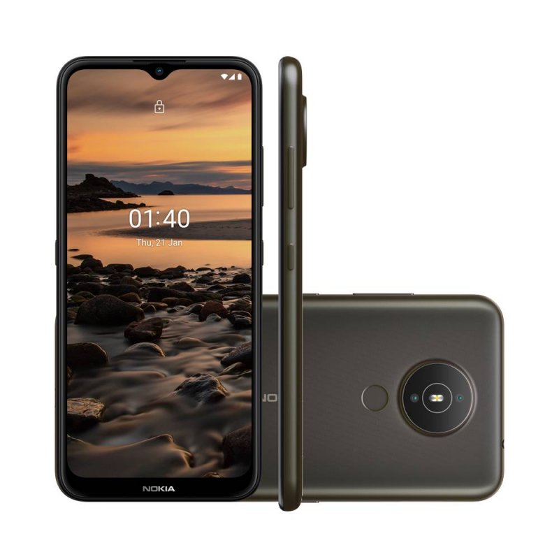 Smartphone Nokia 1.4 NK028 Cinza 64GB 2GB RAM 4G Wi-Fi Dual Chip Câm. Dupla + Selfie 5MP 6.5 HD