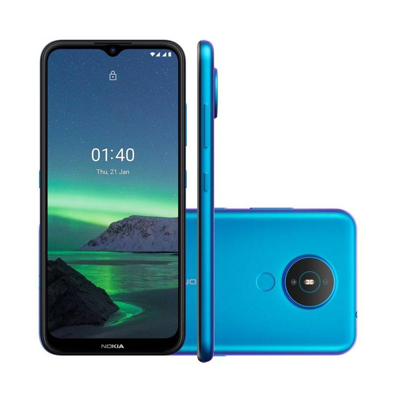 Smartphone Nokia 1.4 NK028 Azul 64GB 2GB RAM 4G Wi-Fi Dual Chip Câm. Dupla + Selfie 5MP 6.5 HD