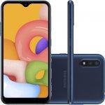 Smartphone Samsung Galaxy A01 32GB 2GB RAM Tela Infinita de 5.7 Câmera Dupla Traseira Azul