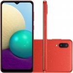 Smartphone Samsung Galaxy A02 Câmera Dupla Traseira 13MP Tela Infinita 6,5 32GB Vermelho