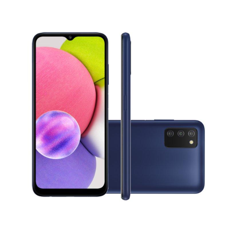 Smartphone Samsung Galaxy A03s Tela 6,5 64GB 4GB Ram Octa Core Cam 13MP 2MP 2MP Selfie 5MP Azul