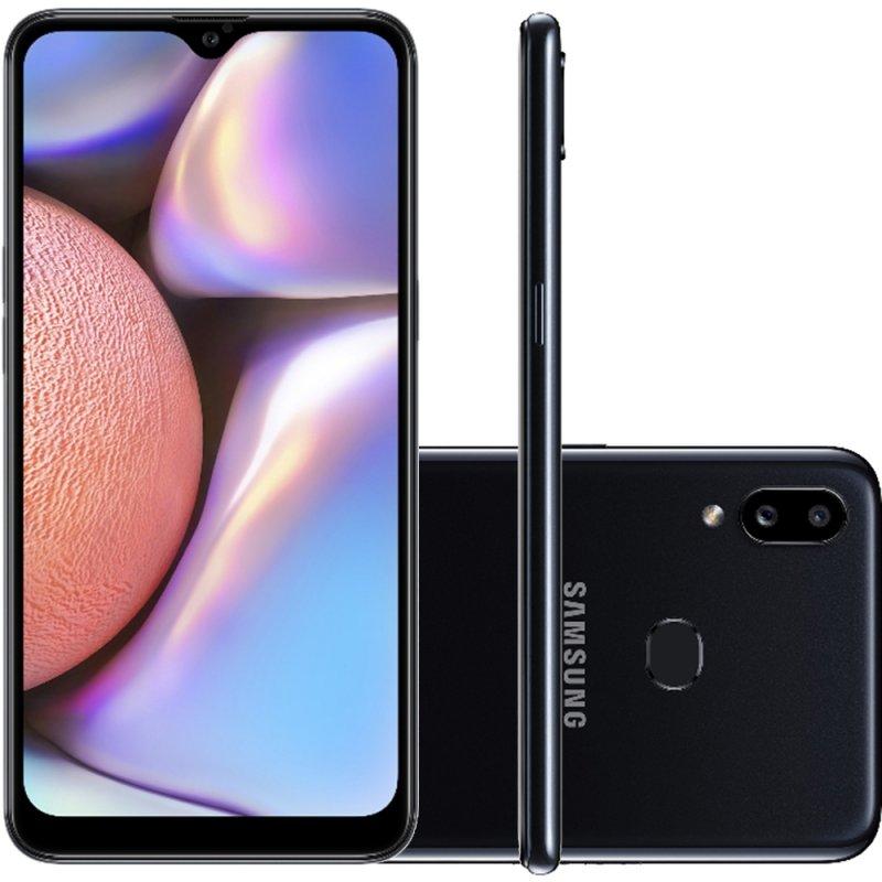 Smartphone Samsung Galaxy A10s 32GB 6.2 2GB RAM Câmera Traseira Dupla 13MP 2MP Preto