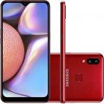 Smartphone Samsung Galaxy A10s 32GB 6.2 2GB RAM Câmera Traseira Dupla 13MP 2MP Vermelho