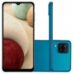 Smartphone Samsung Galaxy A12 Android Tela Infinita 6,5 64GB Câmera 48 MP Azul