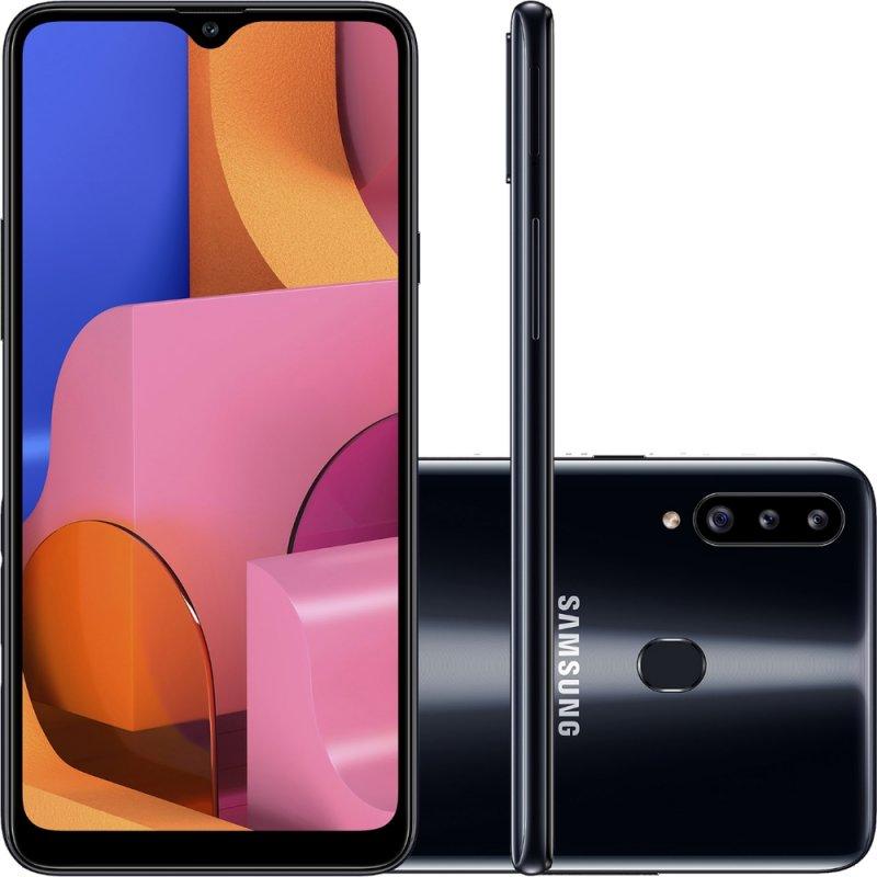 Smartphone Samsung Galaxy A20s 32GB 6.5 3GB RAM Câmera Traseira Tripla 13MP 5MP 8MP Preto