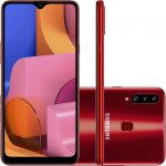 Smartphone Samsung Galaxy A20s 32GB 6.5 3GB RAM Câmera Traseira Tripla 13MP 5MP 8MP Vermelho