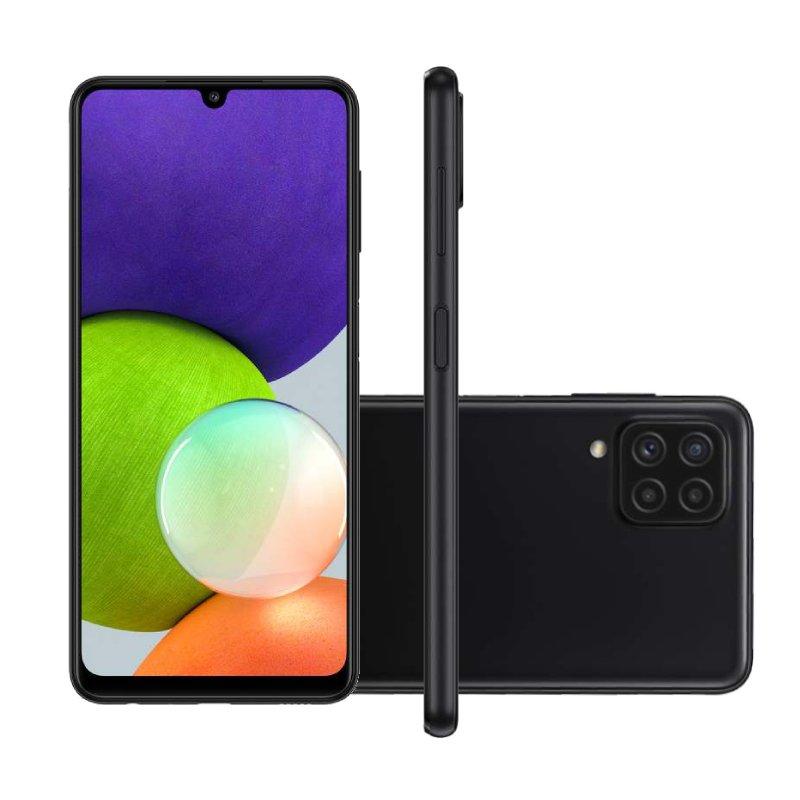 Smartphone Samsung Galaxy A22 Tela 6.4 Octa Core Dual Chip 4GB RAM 128GB 48MP 13MP Preto