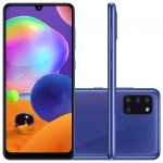 Smartphone Samsung Galaxy A31 Azul Dual Chip Câmera Quádrupla Tela Infinita 6.4 128G 4GB RAM
