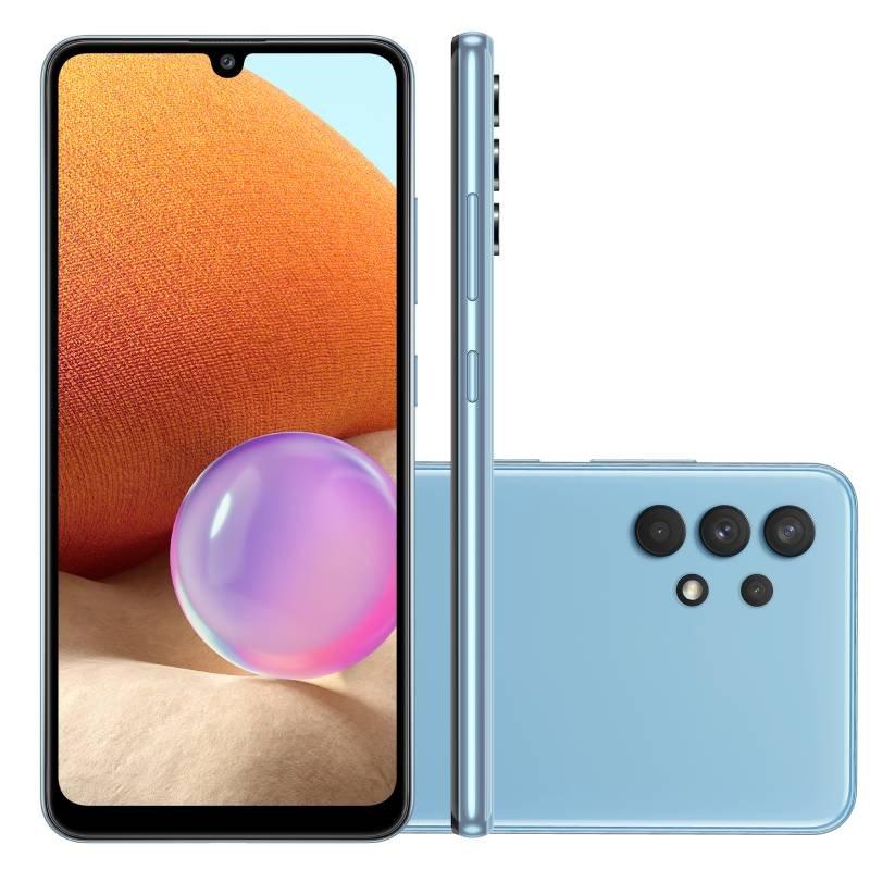 Smartphone Samsung Galaxy A32 Câmera Quádrupla de 64MP Tela Infinita de 6,4 128GB 4GB Azul
