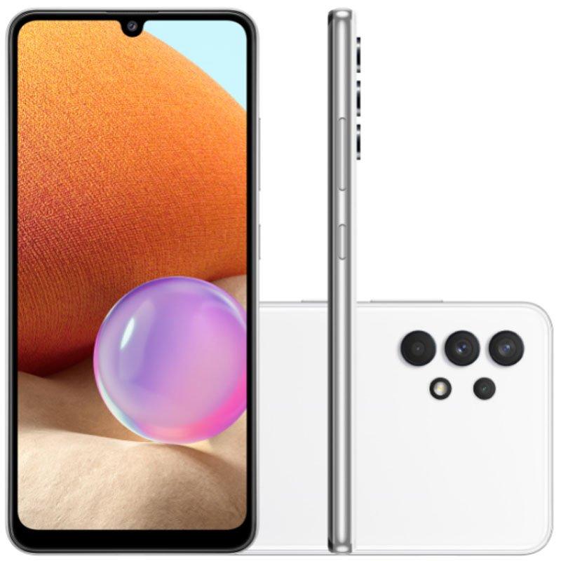 Smartphone Samsung Galaxy A32 Câmera Quádrupla de 64MP Tela Infinita de 6,4 128GB 4GB Branco