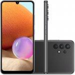 Smartphone Samsung Galaxy A32 Câmera Quádrupla de 64MP Tela Infinita de 6,4 128GB 4GB Preto