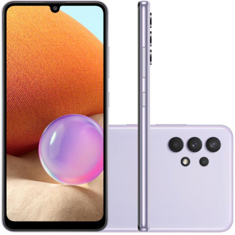 Smartphone Samsung Galaxy A32 Câmera Quádrupla de 64MP Tela Infinita de 6,4 128GB 4GB Violeta
