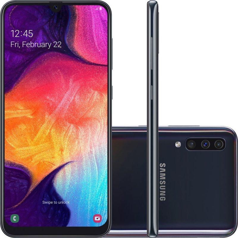 Smartphone Samsung Galaxy A50 128GB 6.4 4GB RAM Câmera Traseira Tripla 25MP 5MP 8MP Preto