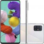 Smartphone Samsung Galaxy A51 128GB 6.5 4GB RAM Câmera Traseira Quádrupla 48MP 12MP 5MP 5MP Branco