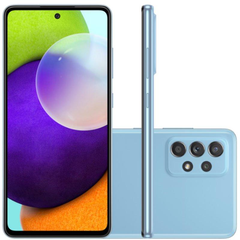 Smartphone Samsung Galaxy A52 Tela Infinita 6,5 128GB 6GB RAM Câmera Quádrupla 64MP Azul