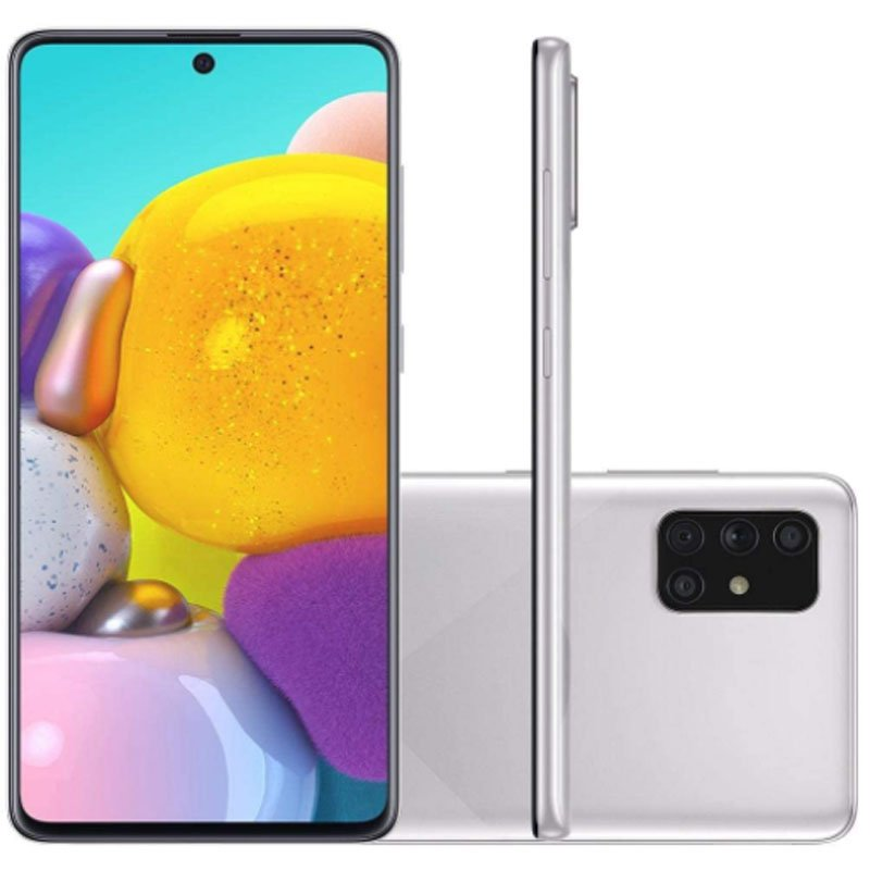 Smartphone Samsung Galaxy A71 6,7 Octa Core Dual Chip 6GB Ram 128GB Memória Câmera 64MP Cinza