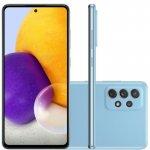Smartphone Samsung Galaxy A72 Câmera Quádrupla Traseira de 64MP Tela de 6,7 Octa Core Azul
