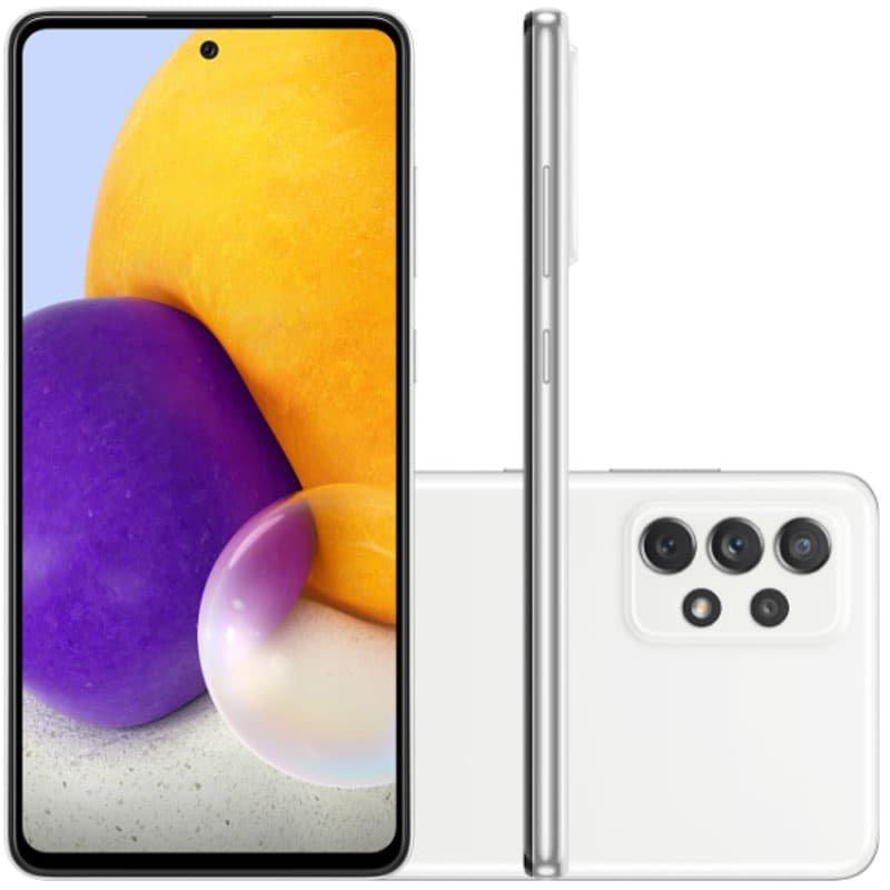 Smartphone Samsung Galaxy A72 Câmera Quádrupla Traseira de 64MP Tela de 6,7 Octa Core Branco