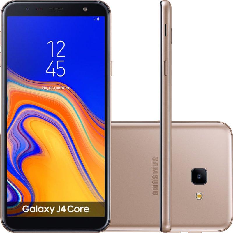 Smartphone Samsung Galaxy J4 Core 16GB Tela infinita de 6 Câmera Traseira 8MP Dual Chip Dourado