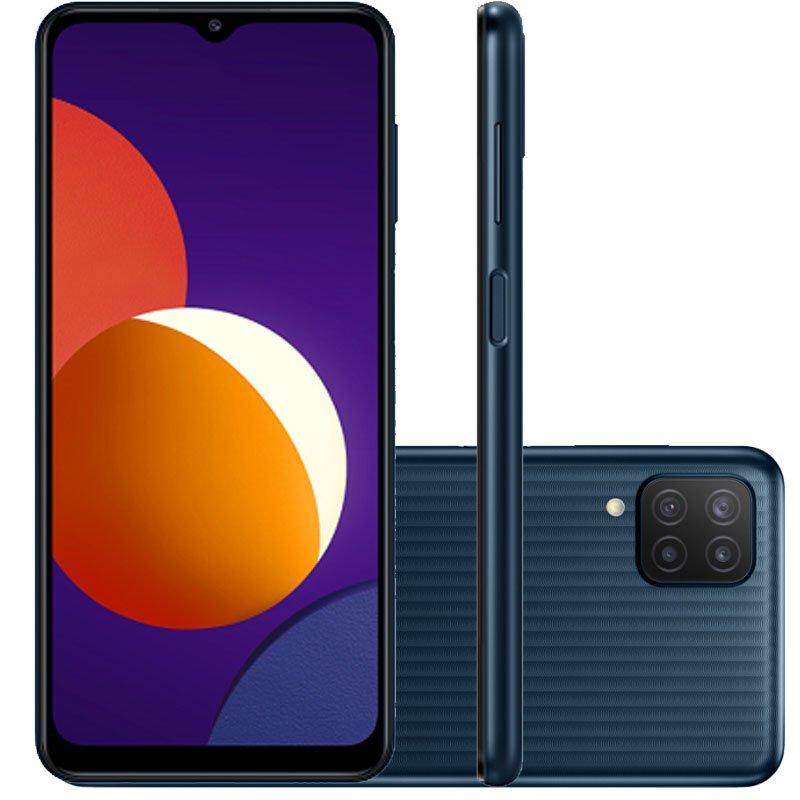 Smartphone Samsung Galaxy M12 64GB Tela 6.5 Dual Chip 4GB RAM Câmera Quádrupla Preto