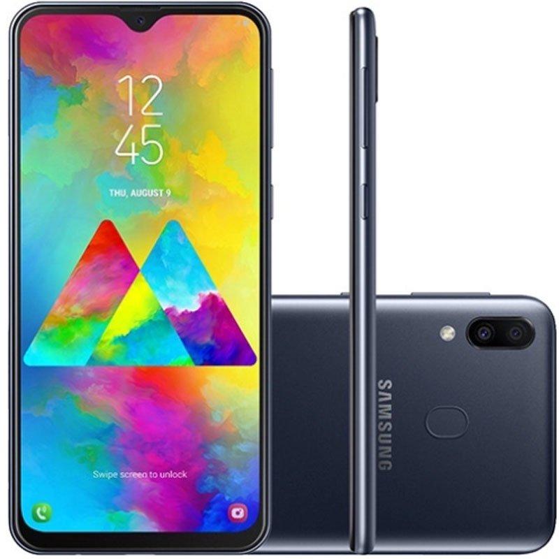 Smartphone Samsung Galaxy M20 64GB 4GB RAM 6.3 Câmera Dupla Traseira 13MP 5MP Preto