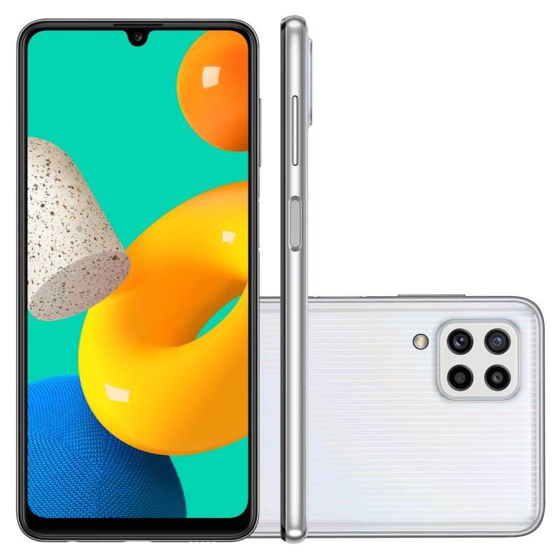 Smartphone Samsung Galaxy M32 128 GB 4G Tela de 6,4 Branco Octa Core Dual Chip 6GB RAM 20MP