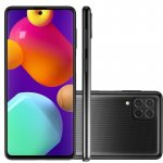 Smartphone Samsung Galaxy M62 Preto 128 GB 6.7 8 GB RAM Câm. Quádrupla 64 MP Selfie 32 MP