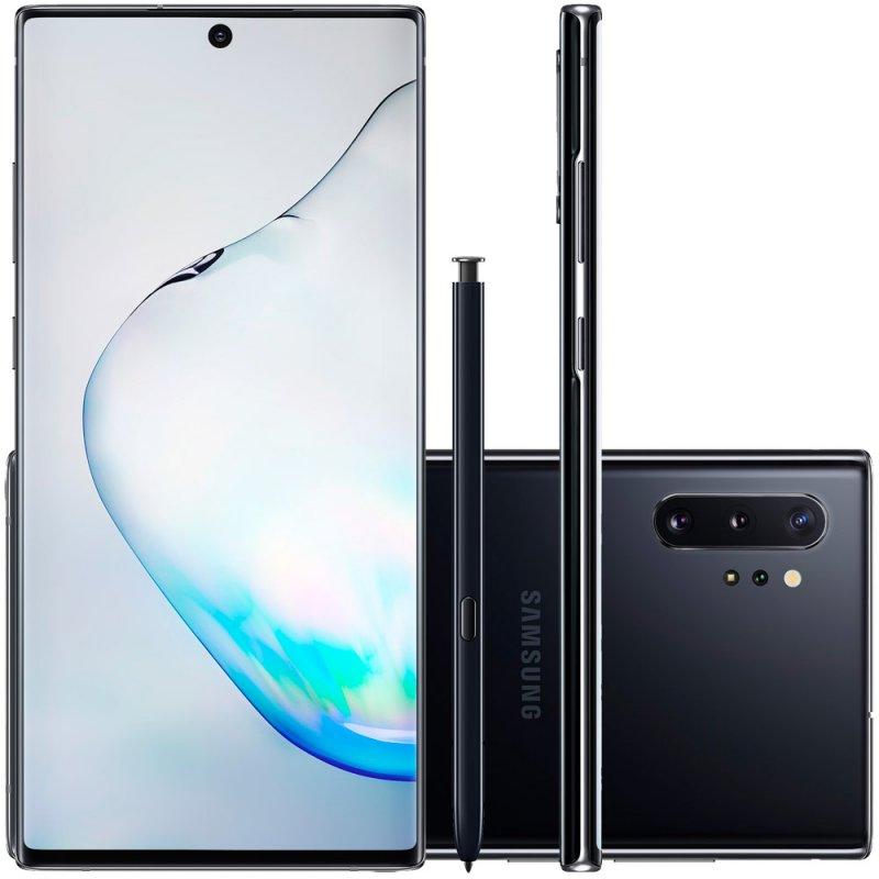 Smartphone Samsung Galaxy Note 10 Plus Preto 256GB 12GB RAM Tela de 6,8 Câmera Traseira Quádrupla