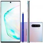 Smartphone Samsung Galaxy Note 10 Prata 256GB 8GB RAM Tela de 6,4 Câmera Traseira Tripla