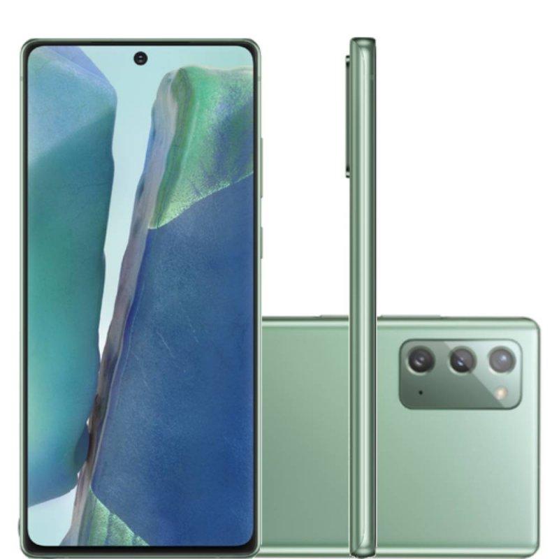 Smartphone Samsung Galaxy Note20 Tela 6,7 RAM 8GB 256GB Dual Chip Câmera 64MP Verde
