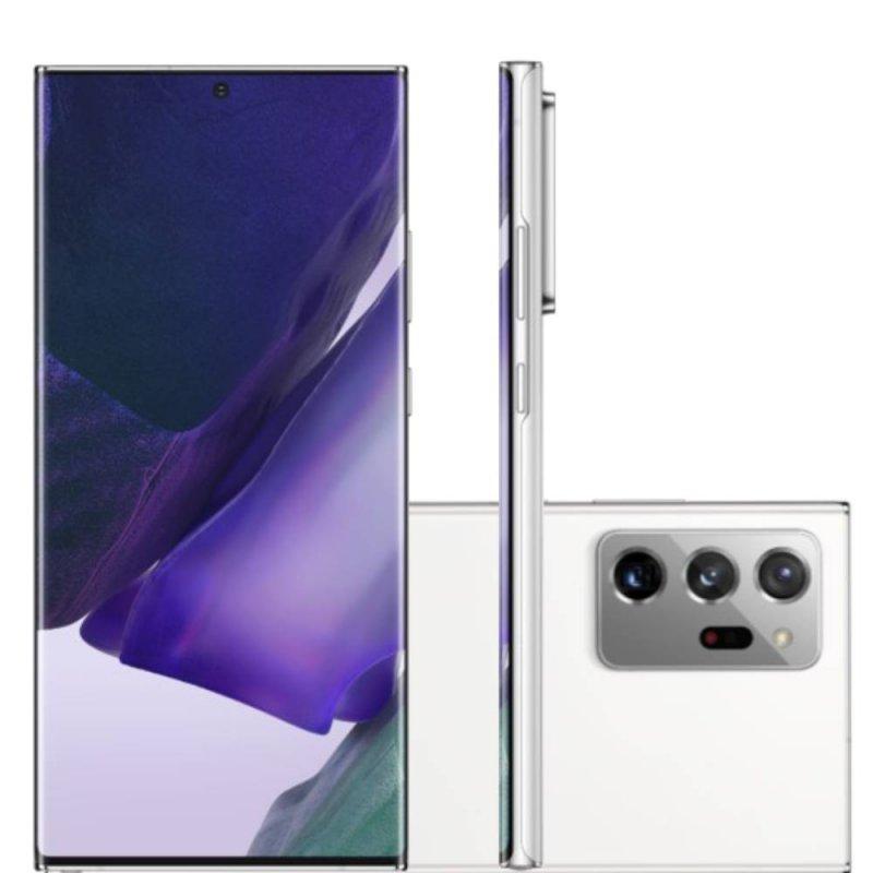 Smartphone Samsung Galaxy Note20 Ultra Tela 6,9 RAM 12GB 256GB Dual Chip Câmera 108MP Branco
