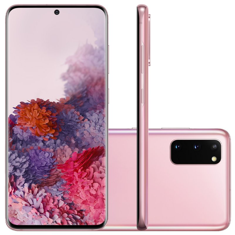 Smartphone Samsung Galaxy S20 128GB Dual Chip 8GB RAM 4G Tela Infinita de 6.2 Cloud Pink